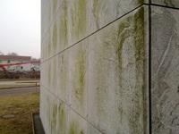 Vattenfall-Fassade vor Beschichtung